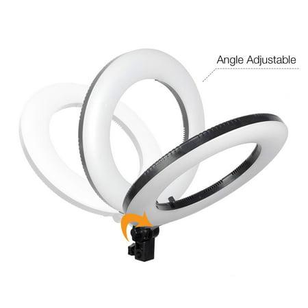"Loadstone Studio 14"" LED Photographic Lamp Ring Light, Dimmable Lighting Kit, Cell Phone Holder, Photo Studio, WMLS2009"