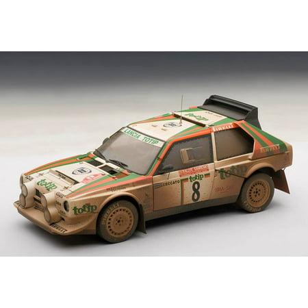Lancia S4 Rally San Remo 1986 Cerrato/Cerri #8 Muddy Version 1/18 Diecast Model Car by Autoart