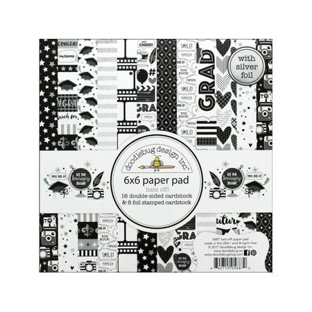 Doodlebug Hats Off Paper Pad 6x6 Doodlebug Design Page Kit