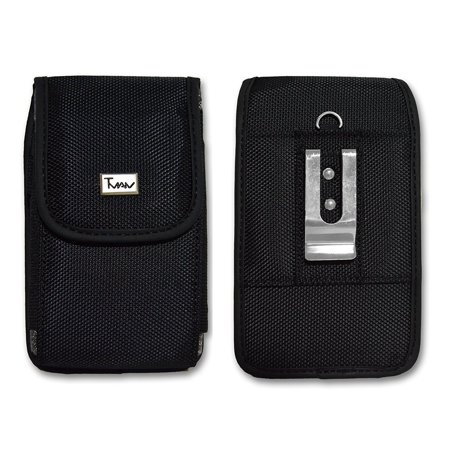 Vertical Rugged Canvas Case for Samsung Galaxy S4 Active SGH-I fits with Otterbox Defender on it, This pouch comes with velcro closure that.., By T MAN Ship from