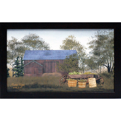 Artistic Reflections Produce Wagon Framed Painting Print