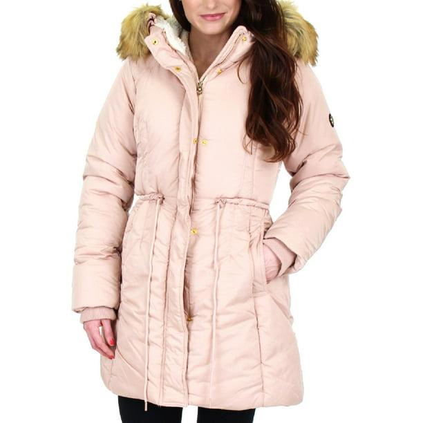 women jacket sale : Jessica Simpson Womens Water Resistant Puffer Parka Coat