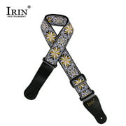 IRIN GS-02 Adjustable Embroidery Guitar Straps for Acoustic Electric Guitars Bass Accessories Yellow