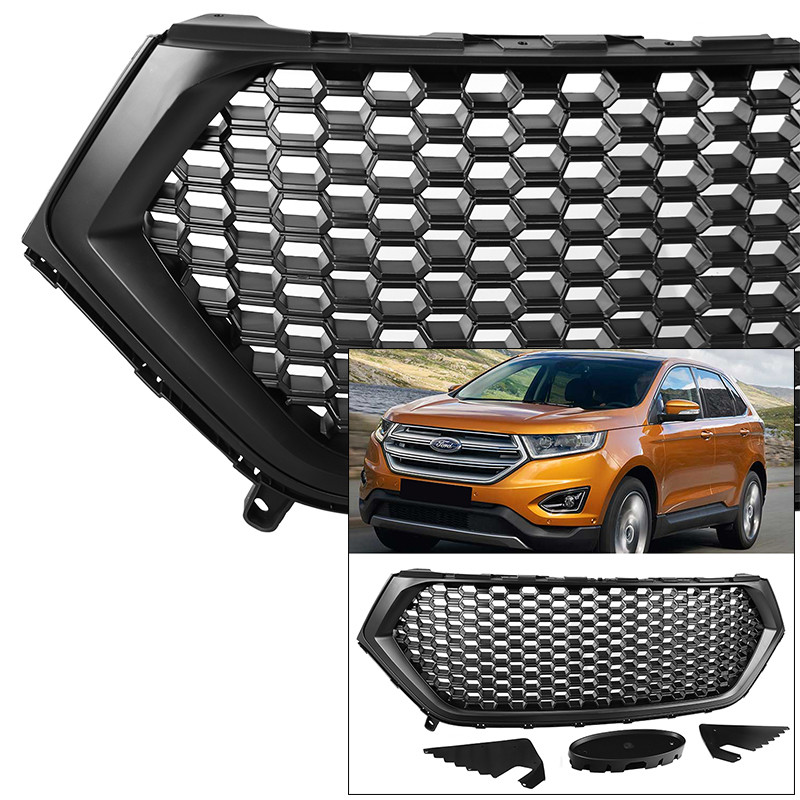Front Grille For Ford Edge   Mustang Style Matte Black Honeycomb