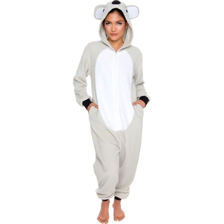 Silver Lilly Adult Slim Fit One Piece Cosplay Koala Animal Pajamas
