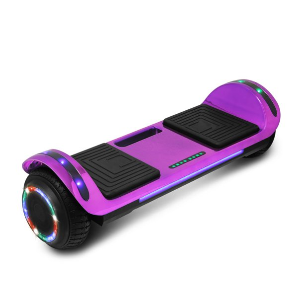 CHO Power Sports 6.5 inch Wheel Hoverboard Electric Smart Self Balancing Scooter Hoover Board with Built in Speaker LED Light - UL2272 Certified