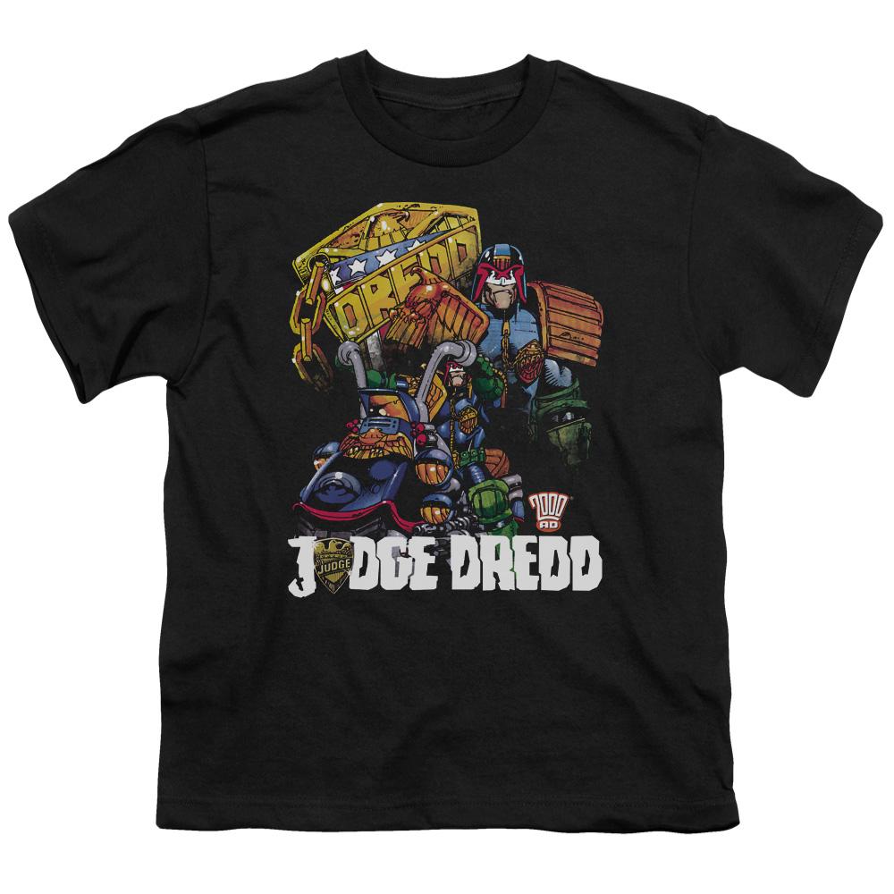 Judge Dredd/Bike And Badge   S/S Youth 18/1   Black     Jd112
