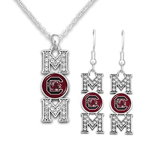 South Carolina MOM Earrings and Necklace Set