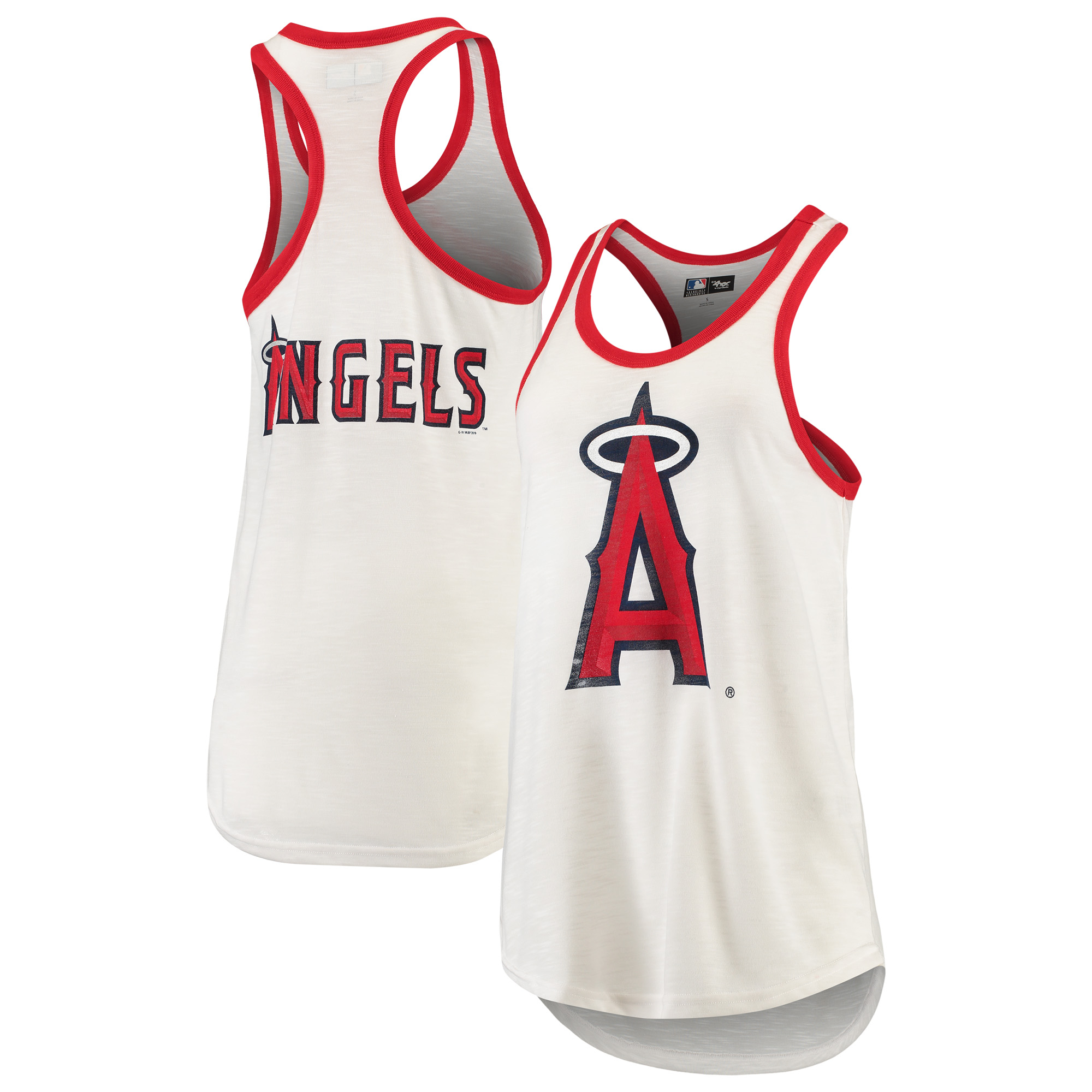 Los Angeles Angels G-III 4Her by Carl Banks Women's Tater Racerback Tank Top - White