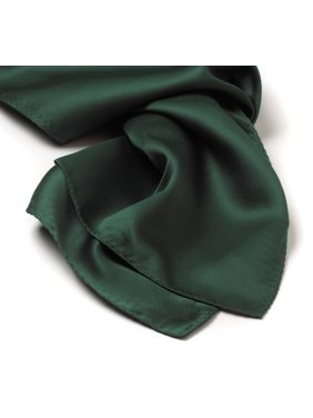 30x30 Solid Color Silk Scarf - Hunter Green