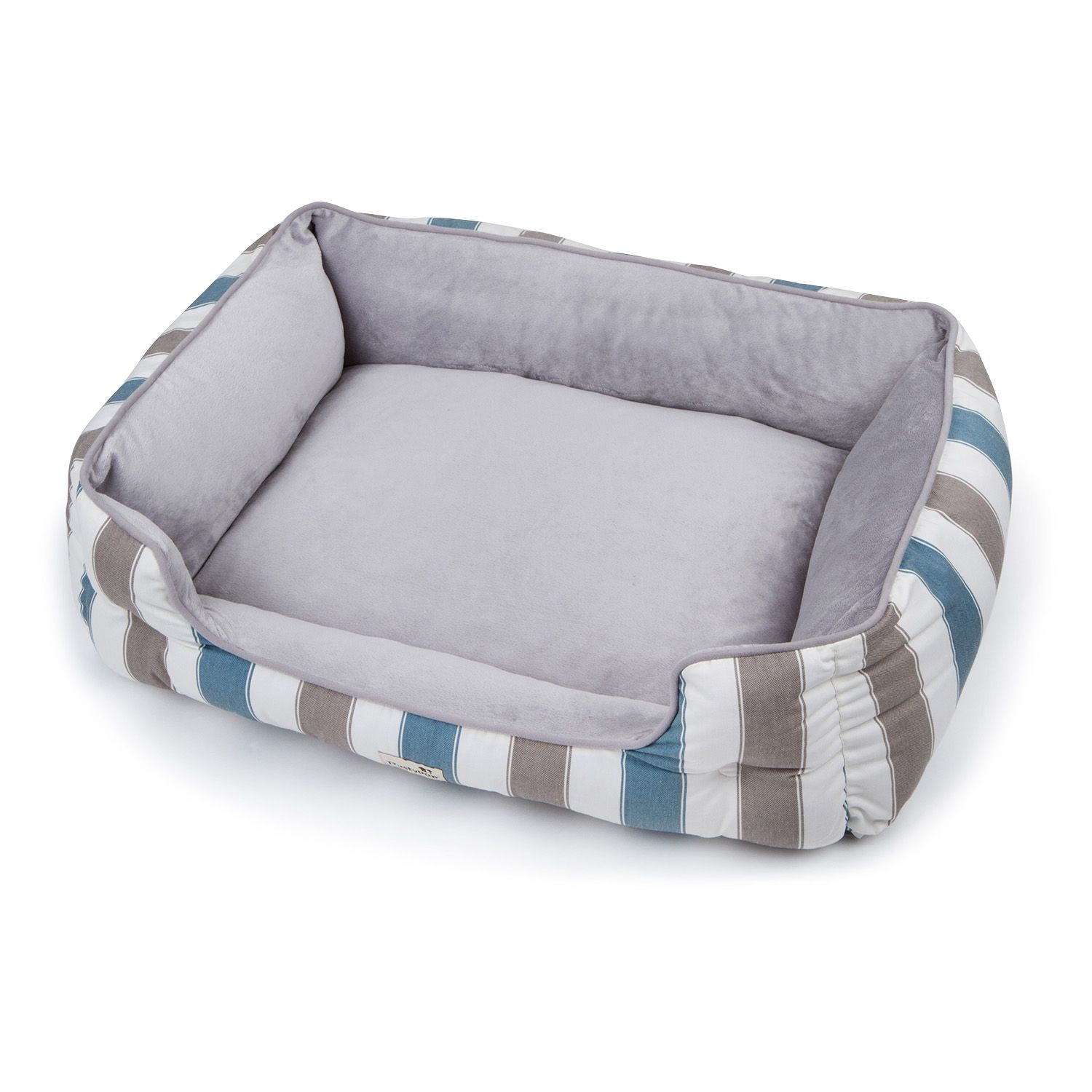 """trusty pup thermadreams pet bed, 39"""" x 26"""" x 9"""" (grey w/ brown"""