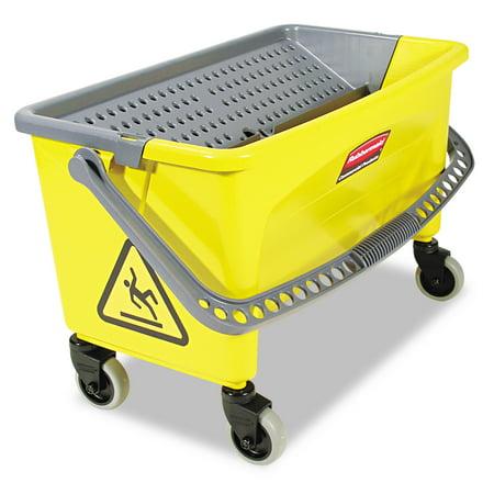 Rubbermaid Commercial Hygen Hygen Press Wring Bucket For Microfiber Flat Mops  Yellow