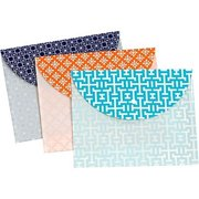 Globe-Weis 95195 Fashion Snap Envelope, Letter Size, 3 Pack, Assorted Pack Of 8