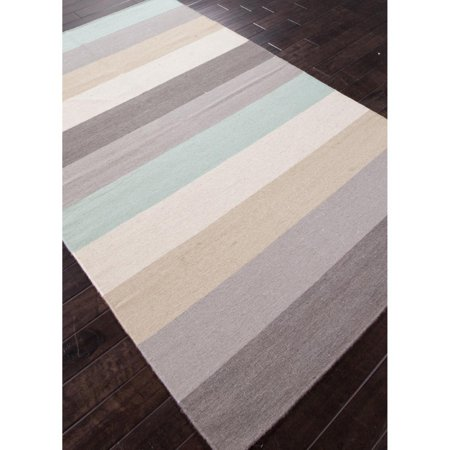 Jaipur Maroc Anais Flat Weave Stripe Pattern Wool Handmade Rug Photo