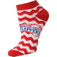 LA Clippers Women's Chevron Stripes Ankle Socks - Lad 9-11