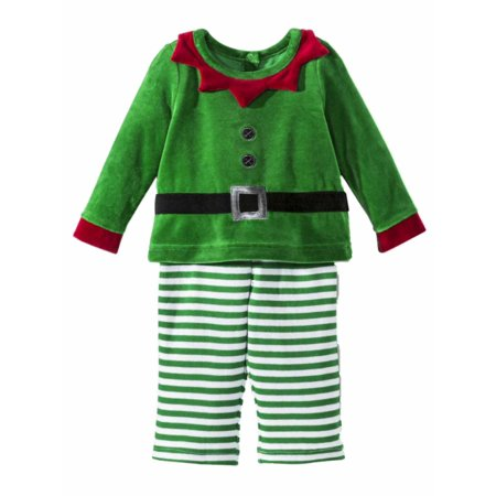 Infant Boys 2-Piece Christmas Elf Outfit Top & Pants Set](Next Elf Outfit)