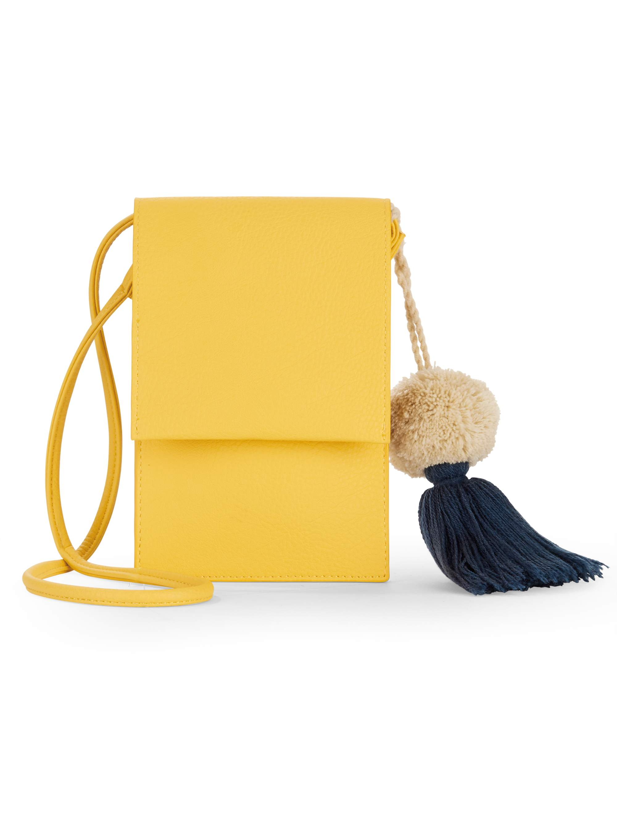 No Boundaries Pom Pom Phone Crossbody