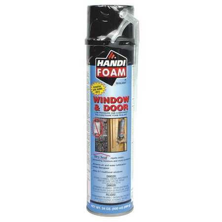 Straw Foam Sealant,Window and Door,24oz. HANDI-FOAM P30271