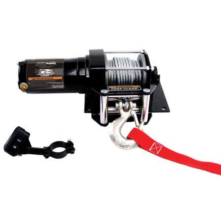 BULLDOG WINCH 15001 2000LB ATV WINCH WITH MINI-ROCKER SWITCH, MOUNTING CHANNEL, ROLLER FAIRLEAD