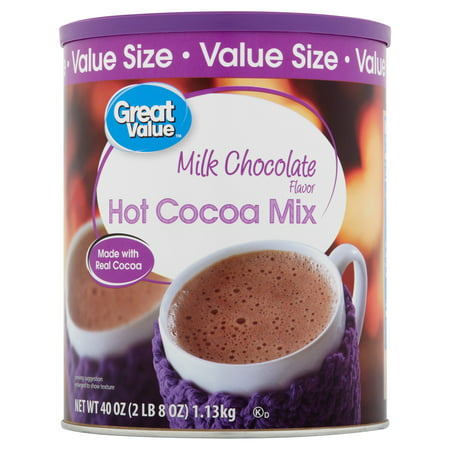 (4 Pack) Great Value Hot Cocoa Mix Milk Chocolate, 40 oz (French Cocoa Powder)