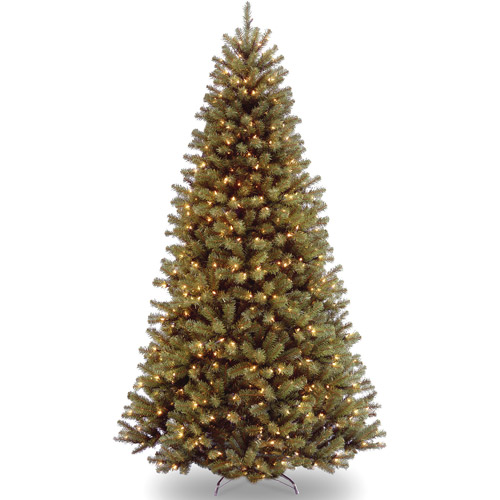 National Tree Pre-Lit 7.5' North Valley Spruce, Clear Lights