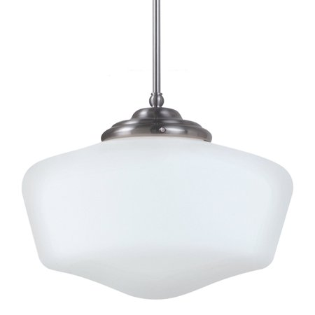 Sea Gull Lighting Plug - Sea Gull Lighting Academy Fluorescent 1-Light Extra Large Pendant - 17W in. Brushed Nickel
