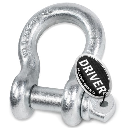 5/8 in. Bow Shackle w/ 3/4 in. Screw Pin - 6,500 lbs. Capacity - by Driver Recovery (Capacity Drive)