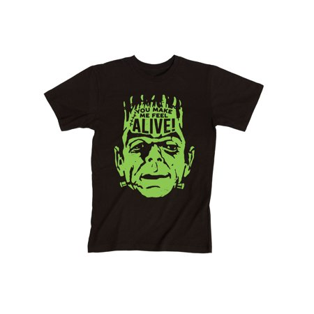 You Make Me Feel Alive Frankenstein Halloween Costume Scary Cool-Men's T-Shirt - Halloween Feeling