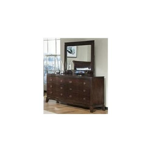 Sunset Trading SS-AX555-DR-MR Sunset Suites Alexandria Dresser and Mirror Set in Dark Mahogany