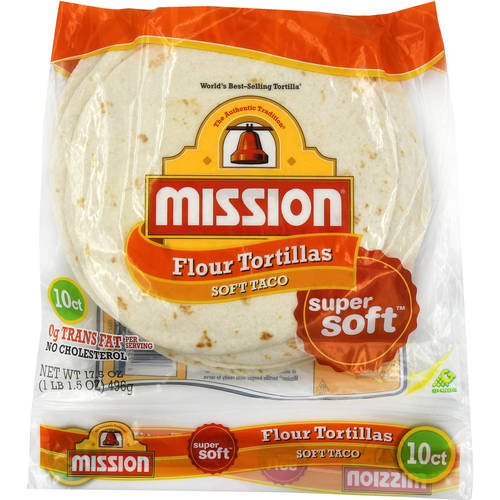 "Mission Flour 8"" Medium Taco Size Tortillas, 10 ct"