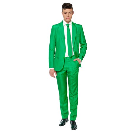 Suitmeister Men's Solid Green Solid Suit](Green Muscle Suit)