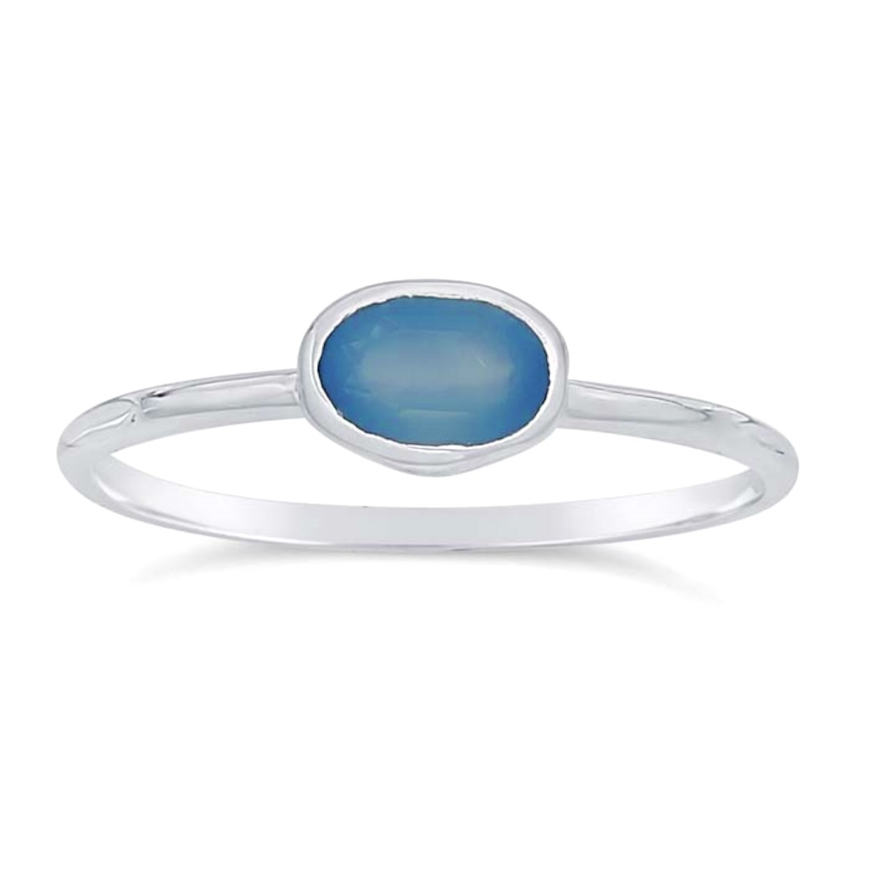 Blue Chalcedony Ring in Sterling Silver, #6392 (7) by