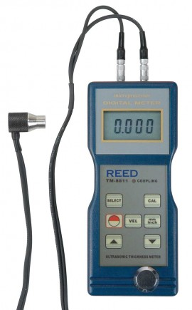 "REED Instruments TM-8811 Ultrasonic Thickness Gauge, 7.9"" by"