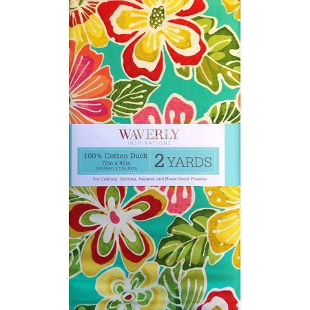 """Waverly Inspirations Cotton 45"""" Pre-Cut Pop Floral Hot Pink Fabric, 1 Each"""