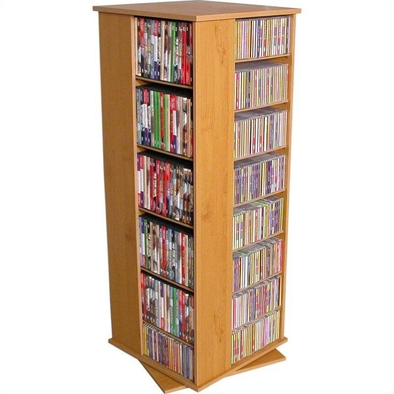 "Venture Horizon 50"" 4-Sided CD DVD Spinning Tower-Cherry"