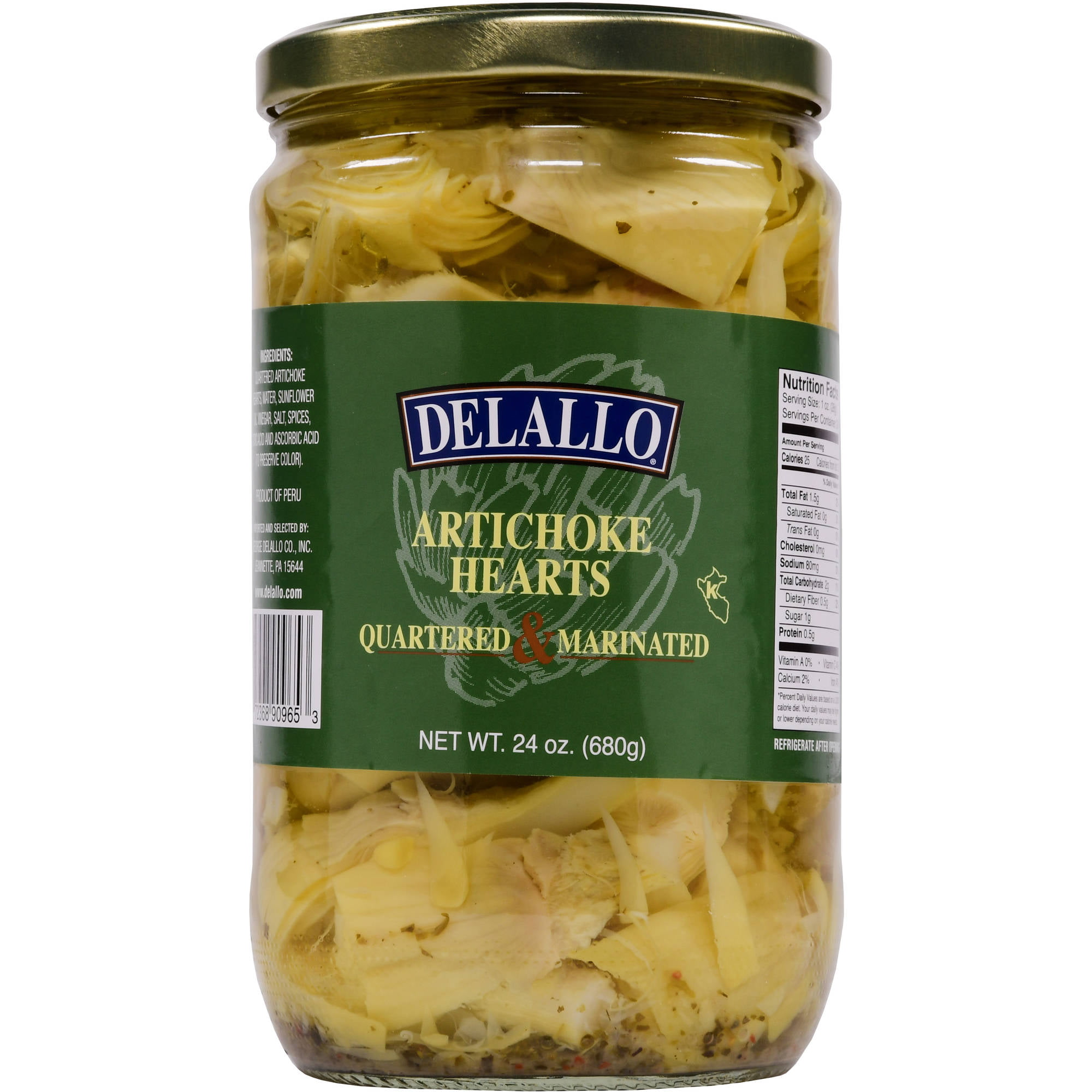 DeLallo Marinated Artichoke Hearts, 24 oz by George Delallo Co, Inc