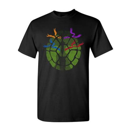 The Shell Turtle Cartoons Ninja Movie Salih Gonenli Artworks Funny DT Adult T-Shirt Tee](Ninja Turtles Shell Shirt)