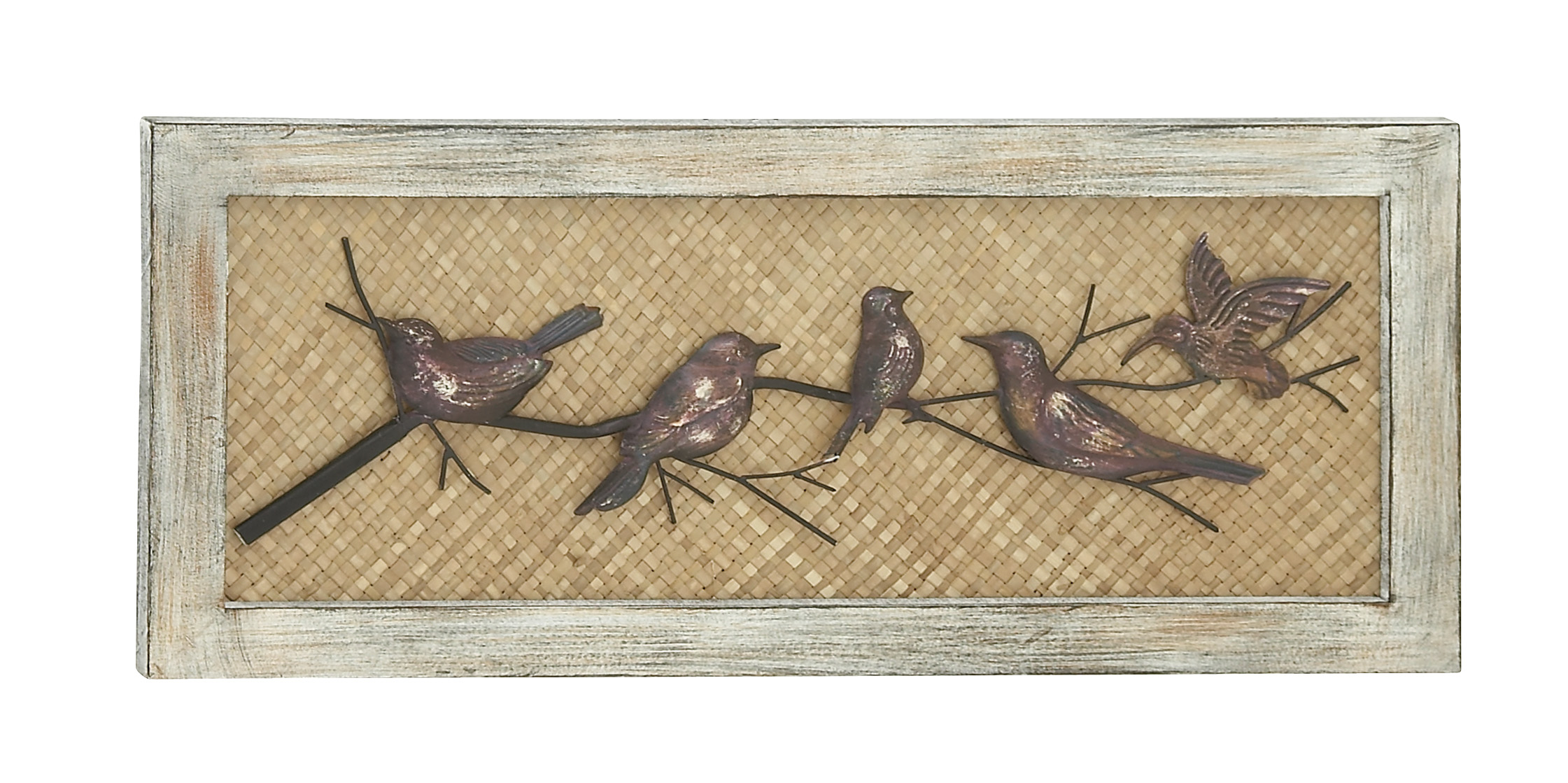 Birds Wood Metal Wall Decor by Benzara