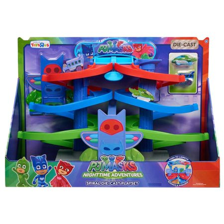 PJ Masks Spiral Die Cast Playset