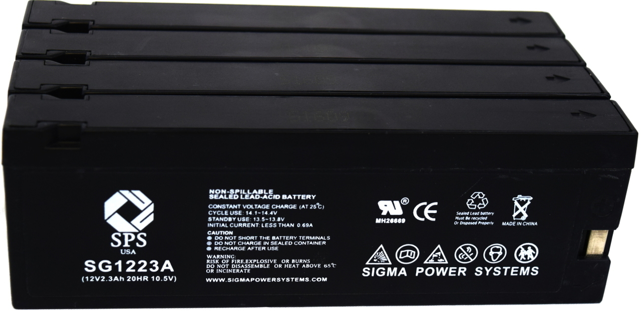 SPS Brand 12V 2.3 Ah (Terminal A) Replacement for Curtis Mathes QD00004 (Camcorder Battery) ( 4 PACK) by Sigma Power Systems