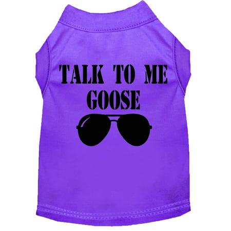 Talk To Me Goose Screen Print Dog Shirt Purple Xxl