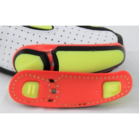 Alpinestars Toe Sliders for 2011-2012 SMX Plus Boots Yellow/Red Toe 2011-13
