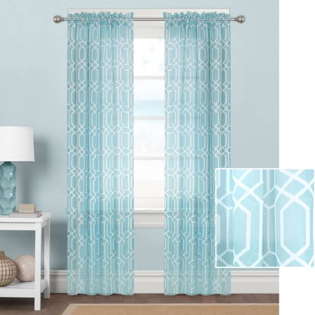 Better Homes And Gardens Geometrics Sheer Curtain Panel
