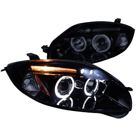 Spec-D Tuning New 2006-2011 Eclipse Led Eyelid Halo Projector Headlights 2006 2007 2008 2009 2010 2011 (Left + Right)