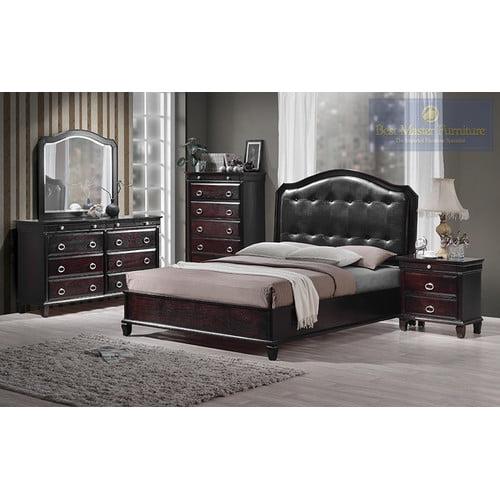 BestMasterFurniture Tiffany Queen Platform Customizable Bedroom Set
