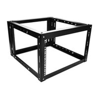 iStarUSA WOM680-P2U 6U 800 mm Adjustable Wallmount Server Cabinet with 2U Cover Plate, Black