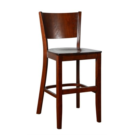 - Hendrix Counter Stool Medium Oak with wood seat