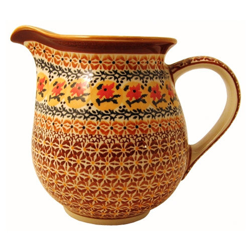 Euroquest Imports Polish Pottery 56 oz Pitcher - Pattern DU70