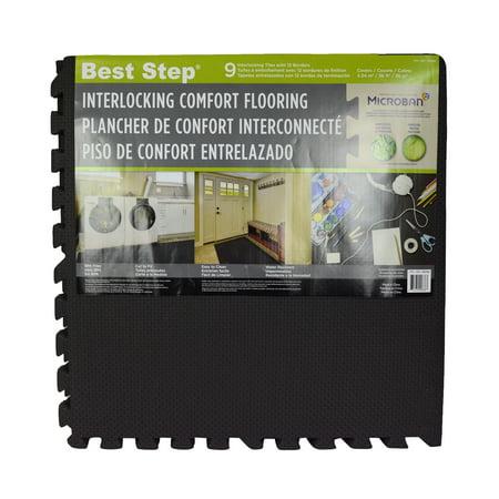 Best Step 9-Count Anti-Microbial Interlocking Floor (Best Step Anti Fatigue Flooring)