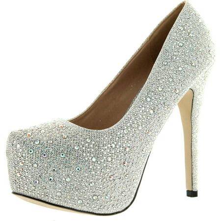 Eye Candie Womens Celine-85W Fashion Shiny New Design Platform Pump ()
